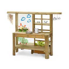 Mud Pie Kitchen, Wooden Kitchen, Kitchen Sets, Mud Kitchen For Kids, Outdoor Play Kitchen, Patio Kitchen, Outdoor Kitchens, Country Kitchen, Lidl Online Shop
