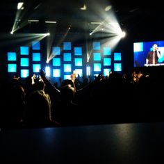 Hawk creek church stage lighting!