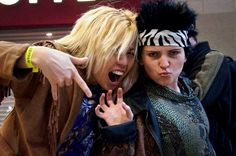 Zoolander and Hansel. They may not be the sharpest tools in the shed, but they certainly are the best dressed.  Needed: western wear, patterned/shiny fabric, metallic lipstick and a little blue steel. #halloween #couplescostumes