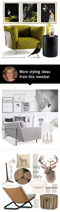 """STELLAIRE STUDIO"" by tiziana-melera on Polyvore featuring interior, interiors, interior design, home, home decor, interior decorating, Kartell, Artecnica, Arteriors and interiordesign"