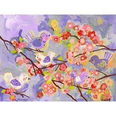 Cherry Blossom Birdies - Lavender