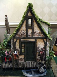 "Ratty's House - Cute idea, like the ""grass"" roof"