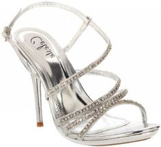 £34.99  Shoehorne Hana-13 - Womens Silver Rhinestone Encrusted Diamante Covered Slingback Strap Stiletto High Heels Evening Sandals - Avail in Ladies Shoe Size 3-8 UK: Amazon.co.uk: Shoes & Accessories