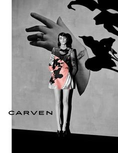 Fashion and art collide in Carven's Dada-inspired collage AW14 campaign shot by Viviane Sassen