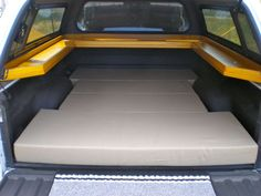 Camper Shell Mod for sleeping (add yours) - Trucks, Truck Accessories & Mods - Wander the West Truck Cap Camping, Truck Camping, Camping Beds, Camping Trailers, Camping Stuff, Truck Shells, Truck Camper Shells, Pickup Truck Camper Shell, Pickup Trucks