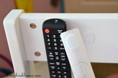 Your remotes will never get lost again thanks to these small velcro add-ons. Get the tutorial at Brie Brie Blooms.