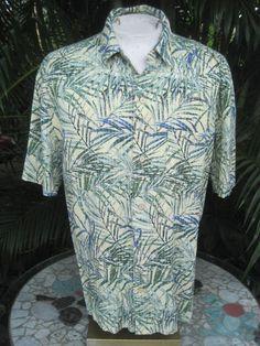 "Silk Short Sleeve Hawaiian Shirts Chest = 25.5/"" - 27/"" Across Tommy Bahama XL"