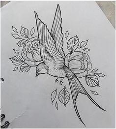 Swallow & Flowers Tattoo by Medusa Lou Tattoo Artist – medusalouxoutloo…. Swallow & Flowers Tattoo by Medusa Lou Tattoo Artist – medusalouxoutloo…. Sleeve Tattoos Swallow & Flowers Tattoo by. Pencil Art Drawings, Bird Drawings, Art Drawings Sketches, Tattoo Sketches, Flower Drawings, Drawing Birds, Sketches Of Flowers, Peony Drawing, Drawing Drawing