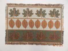 Thanksgiving Autumn Fall Leaves Woven Rectangular Placemats Table Decor Lot of 5 #Nidico