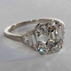Square Emerald Cut Engagement Rings