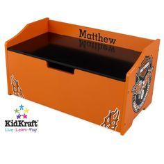 KidKraft Harley Davidson Toy Box - Option to Personalize - http://www.theboysdepot.com/kidkraft-harley-davidson-toy-box-option-to-personalize.html