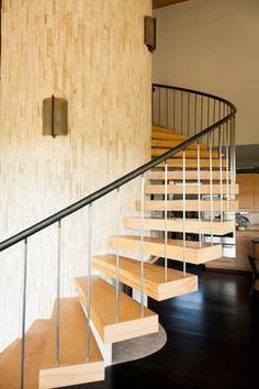 Glass Steel Roof Windows Stair Interior Design Love The