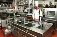 modular commercial kitchen TROIS ROY BASEL MENU SYSTEM AG