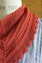 FREE Ravelry: Seashore Kerchief pattern by Churchmouse Yarns and Teas