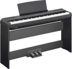 Yamaha Digital Piano Bundle with Yamaha Furniture-Style Stand, Yamaha System, Hal Leonard Instructional Book, and Austin Bazaar Instructional DVD and Polishing Cloth - Black *** Continue to the product at the image link. The Piano, Yamaha Electric Piano, Best Digital Piano, Furniture Styles, Dory, Clothes, Black, Stereo Speakers, Game Room