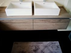 design › Home Aluminium, Double Vanity, Material, Bathroom, Design, Home, Remodels, Oak Tree, Bathing