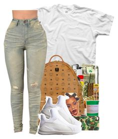 """""""400"""" by xbad-gyalx ❤ liked on Polyvore featuring MCM, Maison Margiela, Stussy and Puma"""