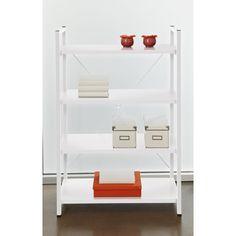 White Metal Frame Bookcase by Jesper Office