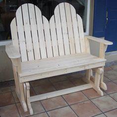 Ah! E se falando em madeira...: Cadeira Adirondack dupla de balanço