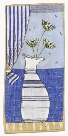 Mary Fedden is one of my favourite contemporary artists and I felt that I wanted to do some pictures which were inspired by her lovely paintings. I always love her stripey curtains so I had ito includ