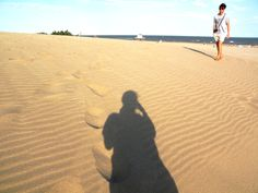 shadow in the sand in argentina