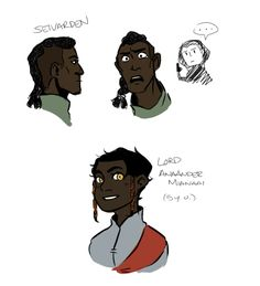 Some characters from Ancillary Justice – trying to get some faces down. :')