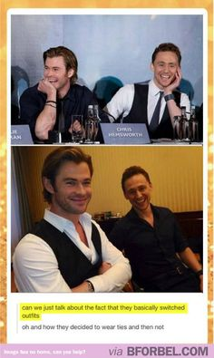 Thor And Loki Are Actually Best Friends In Real Life…maybe more like real brothers if they planned it out lol