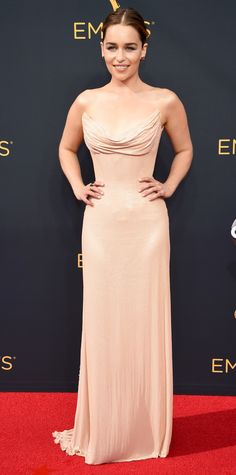 See the Hottest Looks from the 2016 Emmy Awards Red Carpet - Emilia Clarke from InStyle.com