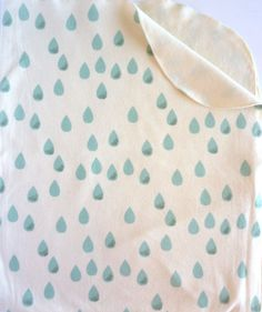 ORGANIC Baby Blanket - Mint - Raindrops