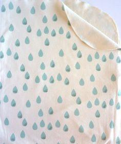 #ORGANIC #Baby #Blanket #Raindrops | juniperwilde via Etsy