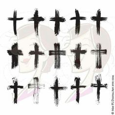 With Easter coming up, I thought to re-post this should you be interested in brush stroke crosses. #Cross #Easter #Clipart Go to https://goo.gl/EfAmKZ