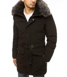 Zimná čierna pánska párka bunda s kapucňou Parka, Winter Jackets, Fashion, Winter Coats, Moda, Winter Vest Outfits, Fashion Styles, Fashion Illustrations, Parkas