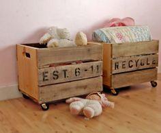 Vintage Crate Toy Storage