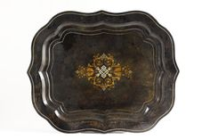 Antique Tole Tray 1800s Ottoman Tray  Vintage by CrolAndCo on Etsy