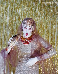 Slavic culture is immense and sometimes contradictory world of folklore, with a large number of linear and horizontal plots, characters, who are strange and paradoxical in their actions, with dual morality, which can be totally lost at some point.   Artist and photographer Uldus Bakhtiozina from St. Petersburg, Russia revamps the image of Russia's best-loved fairy-tale characters and symbols of Russian culture through her photo project, called  RUSS LAND.
