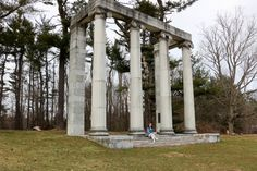The Ionic Colonnade near the Princeton Battlefield - Princeton, New Jersey #revolutionarywar #history #travel