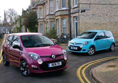 The #Renault #Twingo in Azzurro Blue and Fuschia