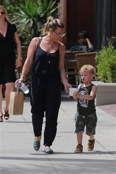 Hilary Duff and son Luca Comrie picked up frozen yogurt at Go Greek in Los Angeles on June 30, 2015.