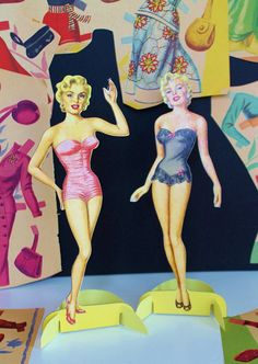 Original 1953 Marilyn Monroe Paper Doll Set / Hollywood Regency