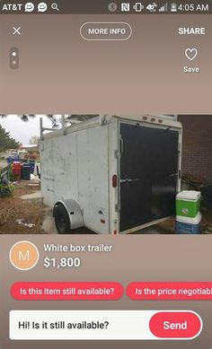Enclosed trailer | ksl.com Enclosed Utility Trailers, Box Trailer, Recreational Vehicles, Woodworking, Enclosed Cargo Trailers, Camper, Carpentry, Wood Working, Woodwork