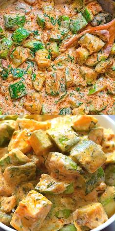 This Creamy Zucchini Sauce is bursting with flavor! Made with paprika-roasted zucchinis, sour cream, garlic, and fresh herbs, it tastes Veggie Dishes, Veggie Recipes, Pasta Recipes, Chicken Recipes, Dinner Recipes, Cooking Recipes, Healthy Recipes, Vegetarian Recipes With Fresh Herbs, Vegetarian Zucchini Recipes