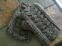 Crocheted Staghorn Cable Fingerless Gloves
