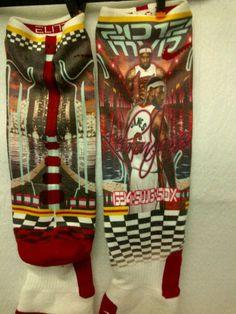 www.g34andmore.bigcartel.com - Custom Nike Elite Socks - King James Lebron - Swag socks $50