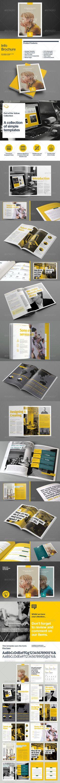 Info Brochure Design Template #brochure #business Download: http://ksioks.com/portfolio/info-brochure-design-template/