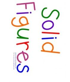 Solid Figures Chart--Great sorting activity + anchor chart idea