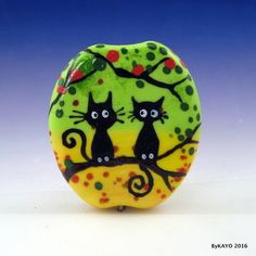 """THE EXECUTIVE BRANCH"" byKAYO a Handmade CAT Lampwork Art Glass Focal Bead SRA #Lampwork"