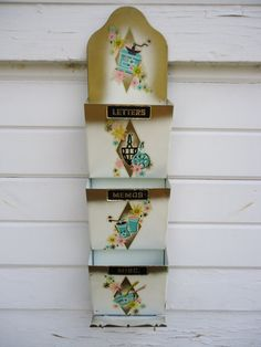 Mid-Century Metal Letter Holder by Catsandclover on Etsy