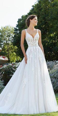 A-Line Wedding Dresses 2020/2021 Collections Overview ❤  a line wedding dresses sweetheart neckline lace beach mori lee #weddingforward #wedding #bride
