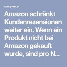 Amazon schränkt Kundenrezensionen weiter ein. Wenn ein Produkt nicht bei Amazon gekauft wurde, sind pro Nutzer nur noch wenige Bewertungen pro Woche erlaubt. Damit soll das Einstellen gefälschter Produktrezensionen unterbunden werden.  Amazon will in seinem Onlinekaufhaus nur noch möglichst glaubhafte Bewertungen von Kunden anzeigen. Wer nicht bei Amazon einkauft, kann nur noch eine begrenzte Anzahl von Rezensionen verfassen. Pro Woche sind dann maximal fünf Rezensionen pro Amazon-Konto…