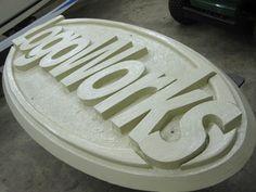 Layered XPS Styrofoam Foam Sign with Hot Wire Foam Factory Foam Coat